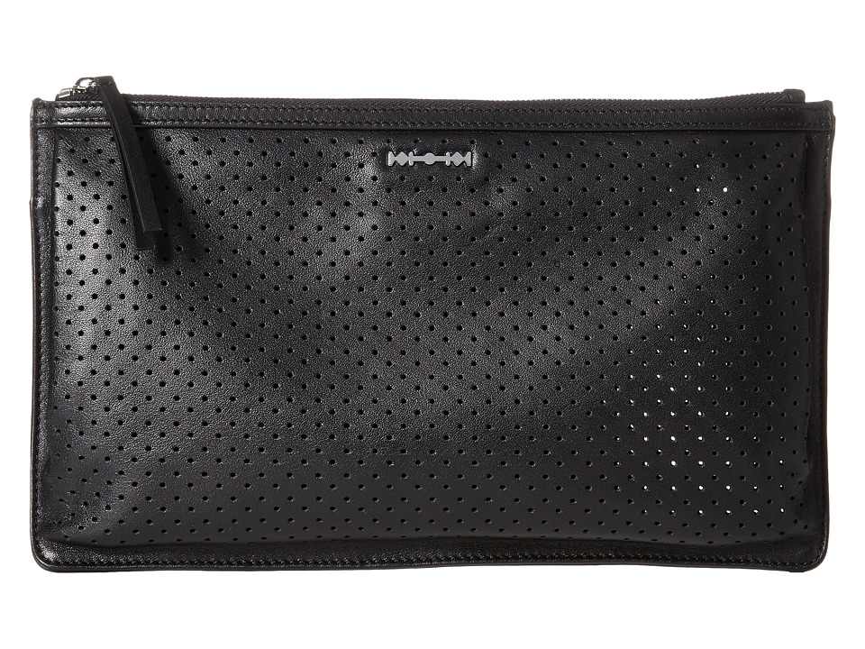 McQ - Kicks Clutch (Black Perforated) Clutch Handbags