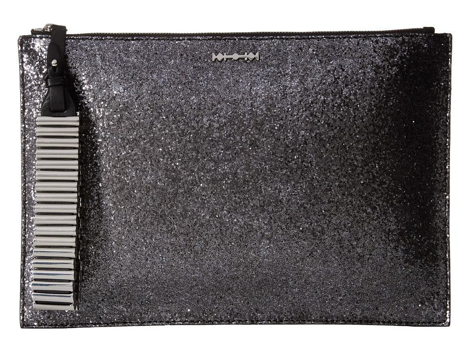 McQ - Bullet Kicks Clutch (Gunmetal Glitter Fabric) Clutch Handbags
