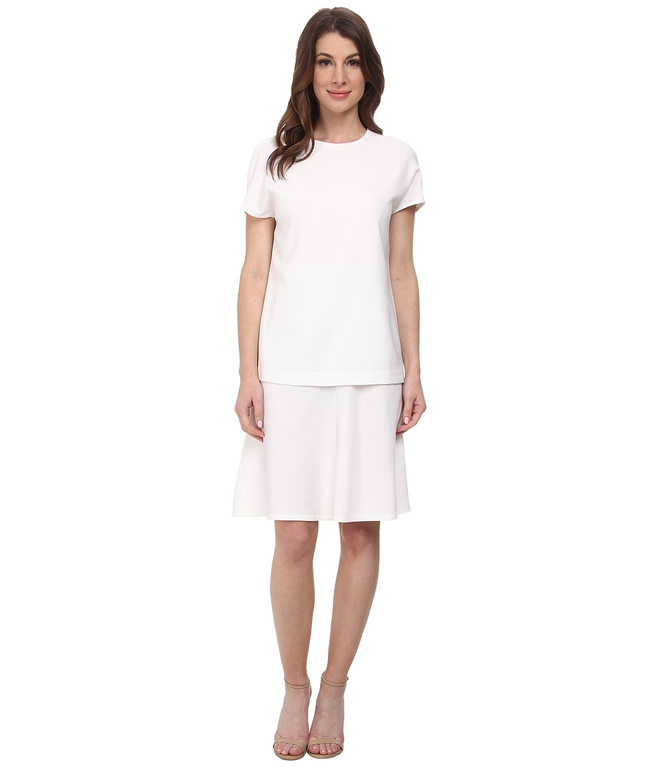 Anne Klein - Crepe Popover Dress (White) Women