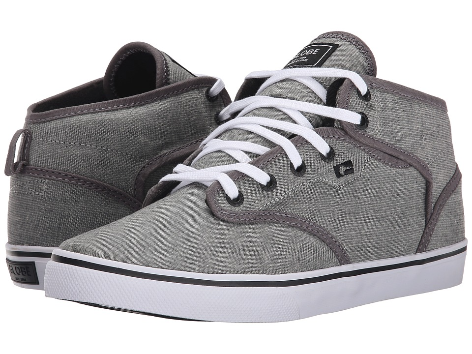 Globe - Motley Mid (Dark Grey/White) Men's Skate Shoes
