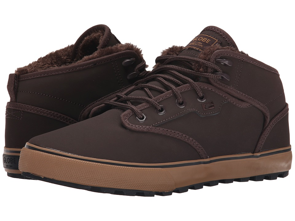 Globe - Motley Mid (Brown/Brown Fur) Men's Skate Shoes