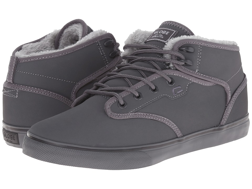 Globe - Motley Mid (Charcoal/Grey Fur) Men's Skate Shoes