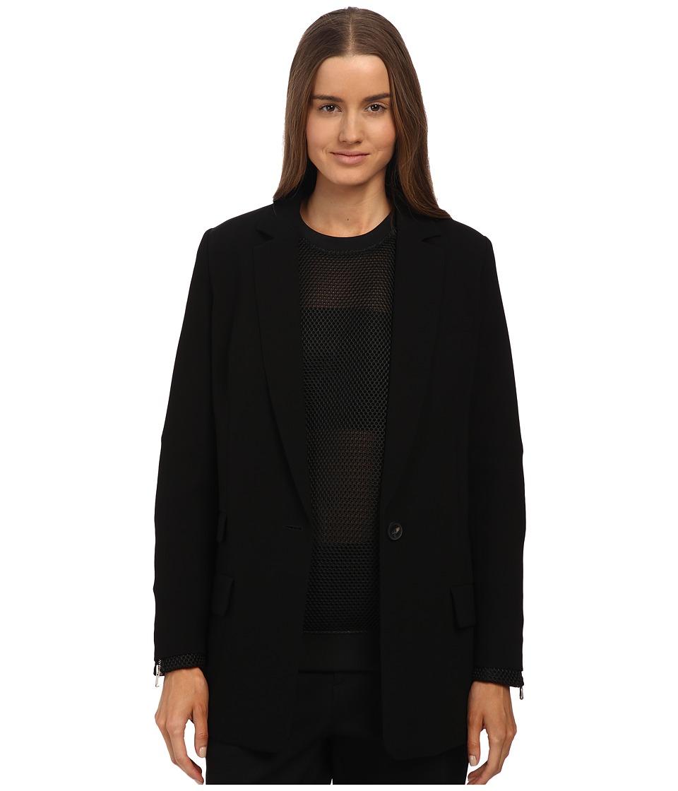McQ - Classic Blazer (Black Crepe) Women