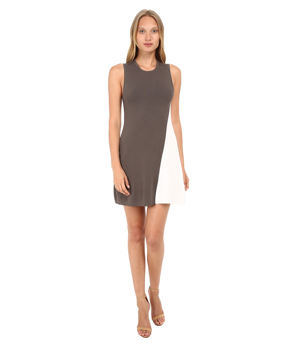 Theory Branteen Dress (Army/White) Women