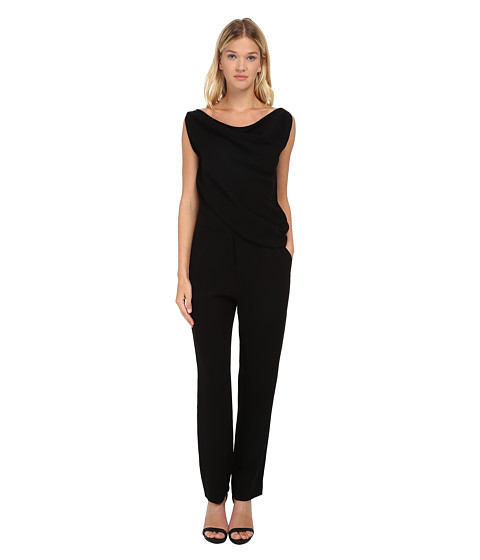 McQ - All-In-One Drape Jumpsuit (Black Crepe) Women