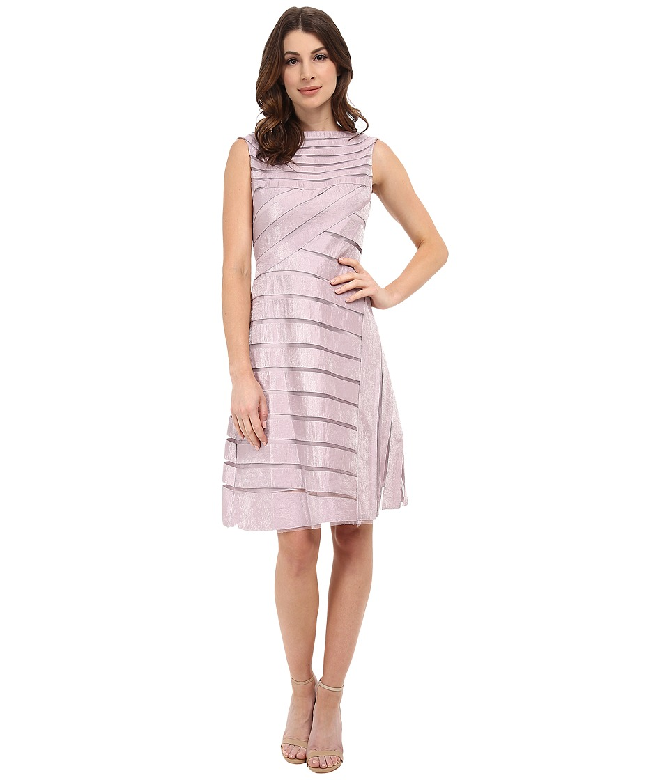 Adrianna Papell - Directionals Netting Shimmer Inset Dress (Shell) Women's Dress