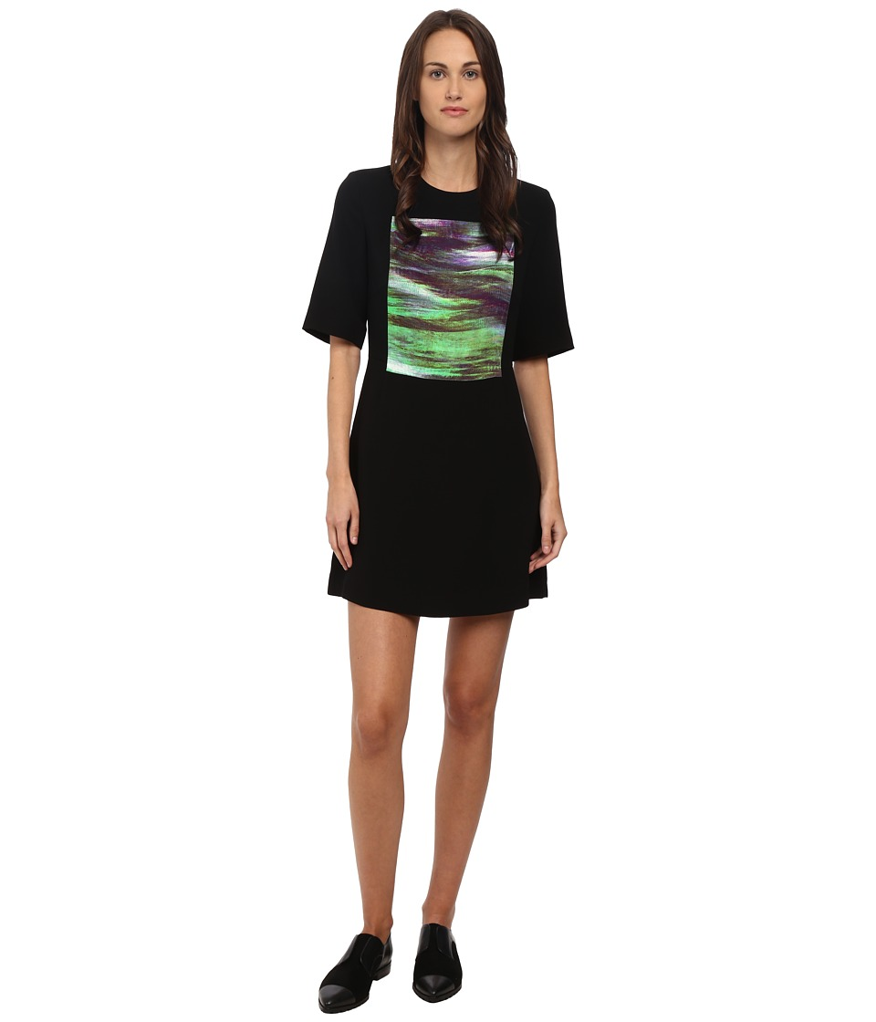 McQ - Panelled Party Dress (Black TV Screen) Women