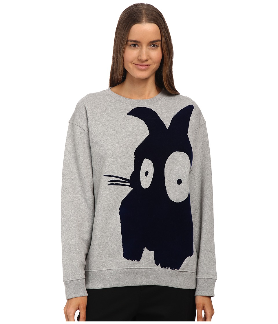 McQ - Classic Sweater (Grey Melange/Navy) Women's Sweater