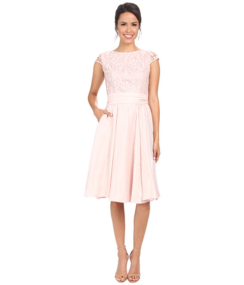 Adrianna Papell - Shimmer Skirt with Lace Top Dress (Petal) Women's Dress