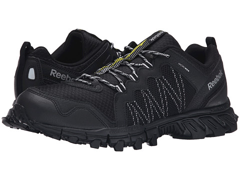 Reebok - Trail Grip 4.0 RS (Black/Silver Metallic/Steel/Flat Grey/Vital Green) Men's Running Shoes