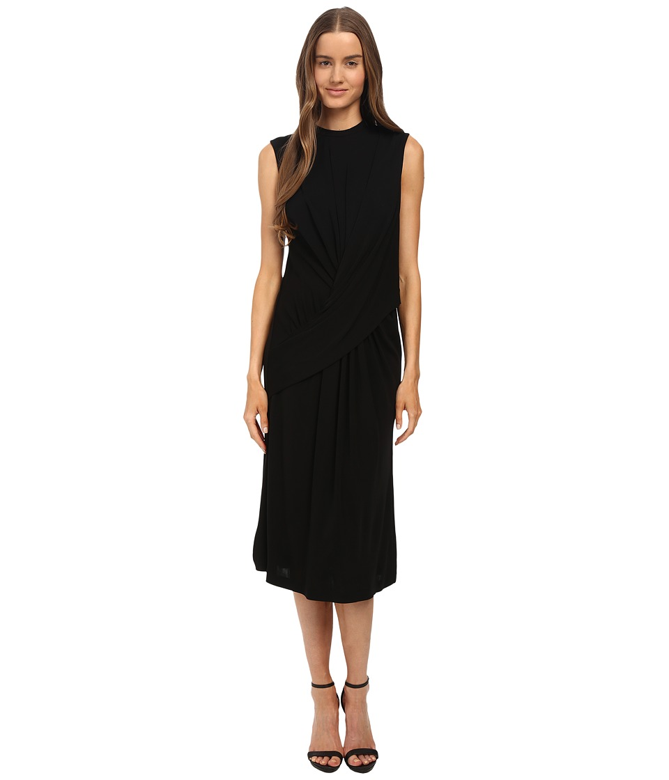 McQ - Relaxed Twist Dress (Darkest Black Solid Twisted) Women's Dress