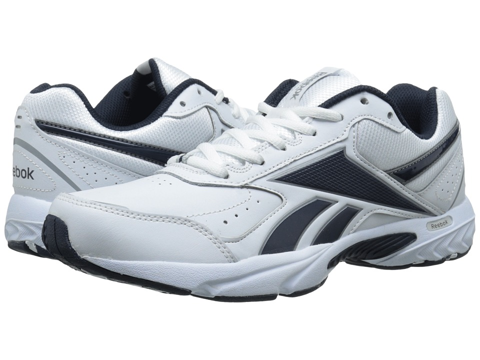 Reebok - Daily Cushion 3.0 RS (White/Athletic Navy/Flat Grey) Men's Walking Shoes