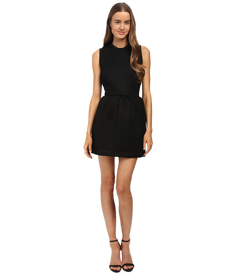 McQ - Volume Party Dress (Darkest Black Mesh Jersey) Women's Dress