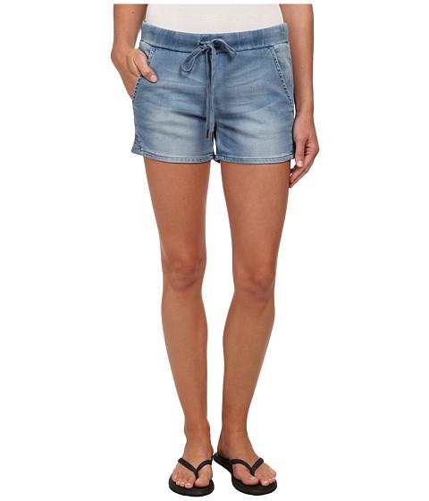 Seven7 Jeans - Knit Denim Track Shorts (Cirque Blue) Women