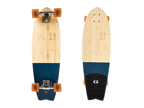 Globe - Sun City Cruiser (Half Dip Banboo/Blu) Skateboards Sports Equipment