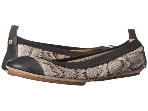 Yosi Samra - Samantha Two-Tone Fold Up Flat (Smoke/Black) Women