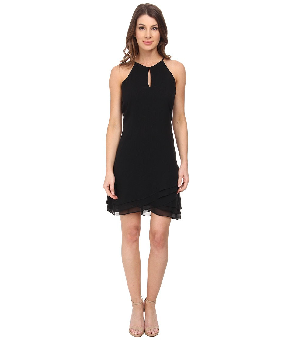Calvin Klein - Halter Neck Sheath Dress (Black) Women's Dress