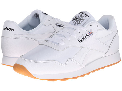 Reebok - Royal Nylon Gum (White/Black) Men's Classic Shoes