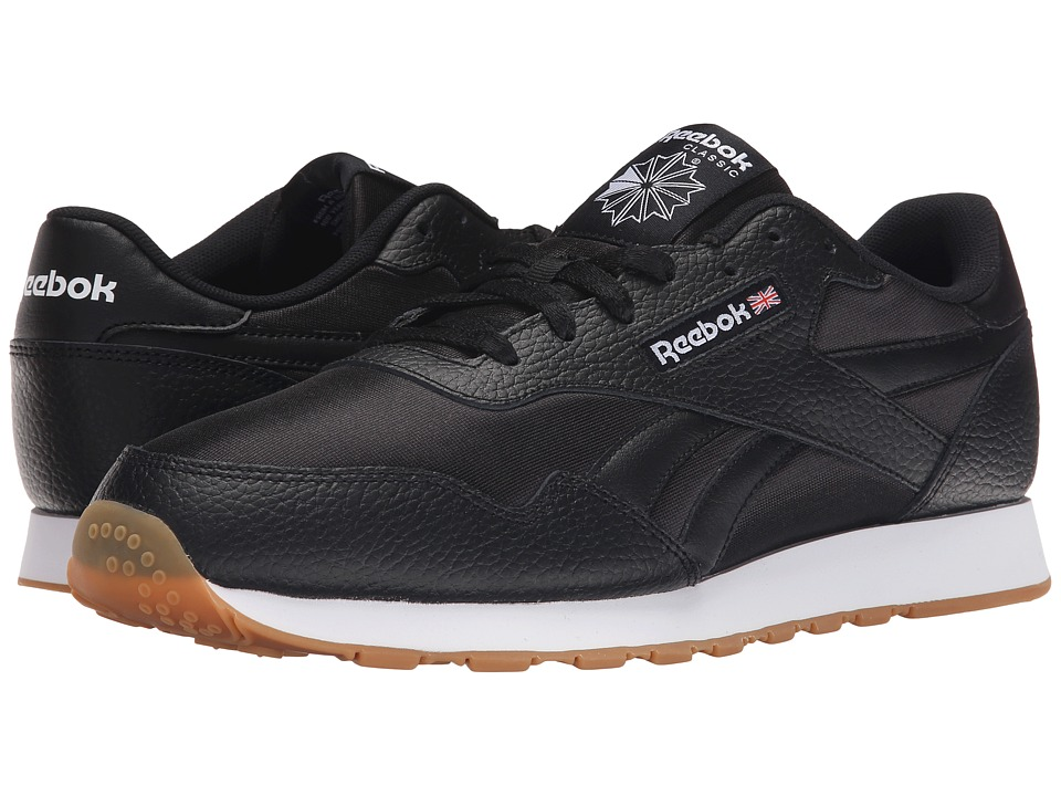 Reebok - Royal Nylon Gum (Black/White) Men's Classic Shoes