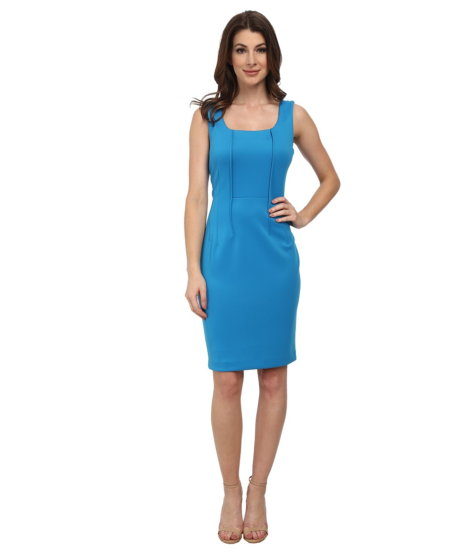 Calvin Klein - Scoop Neck Sheath Dress (Adriatic) Women's Dress