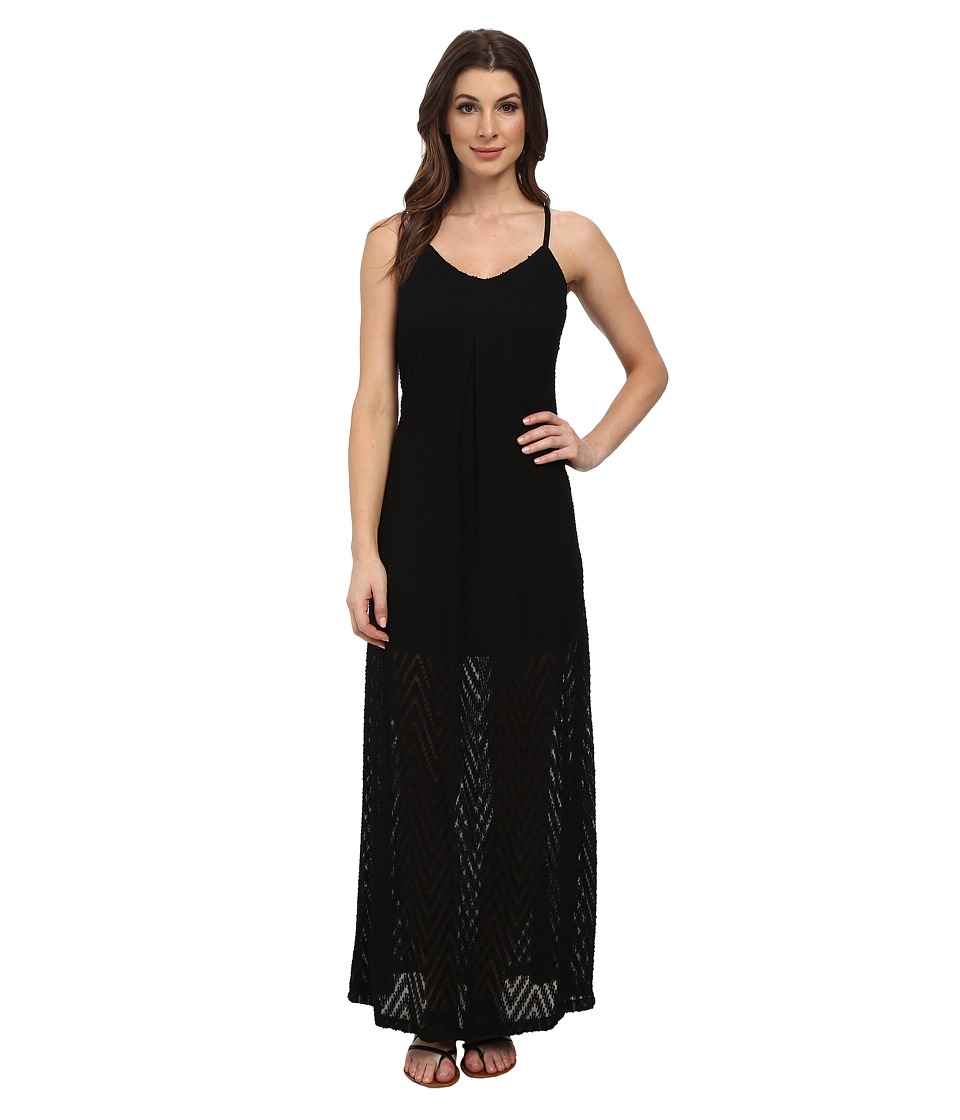 Calvin Klein - Slip Strap Maxi Dress (Black) Women's Dress