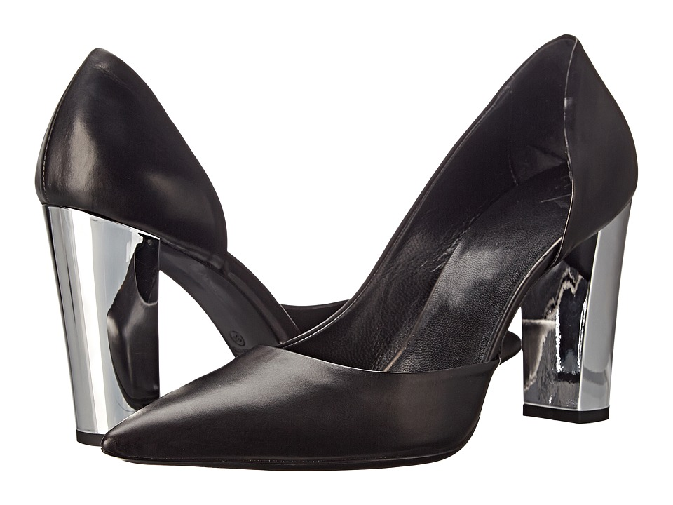 McQ Haggerston Pump (Black Baby Calf Leather) High Heels