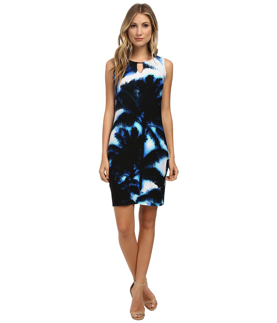 Calvin Klein - Jersey Sheath Dress (Regatta Multi) Women