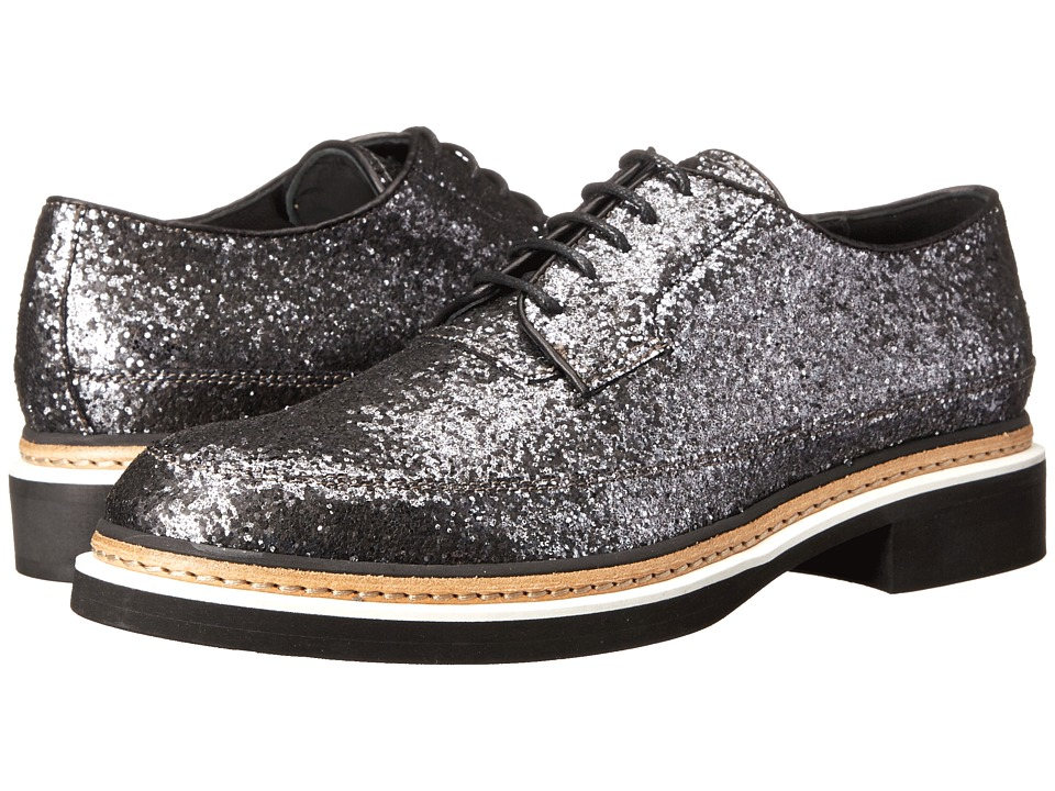 McQ - Columbia Lace Shoe (Gunmetal Glitter Fabric) Women