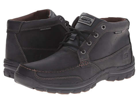 SKECHERS - Braver Fabio (Black) Men's Lace-up Boots