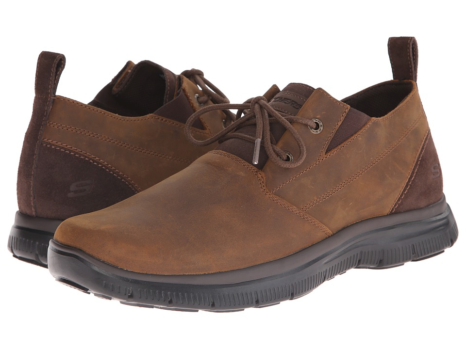 SKECHERS - Relaxed Fit Hinton - Boley (Dark Brown) Men's Shoes