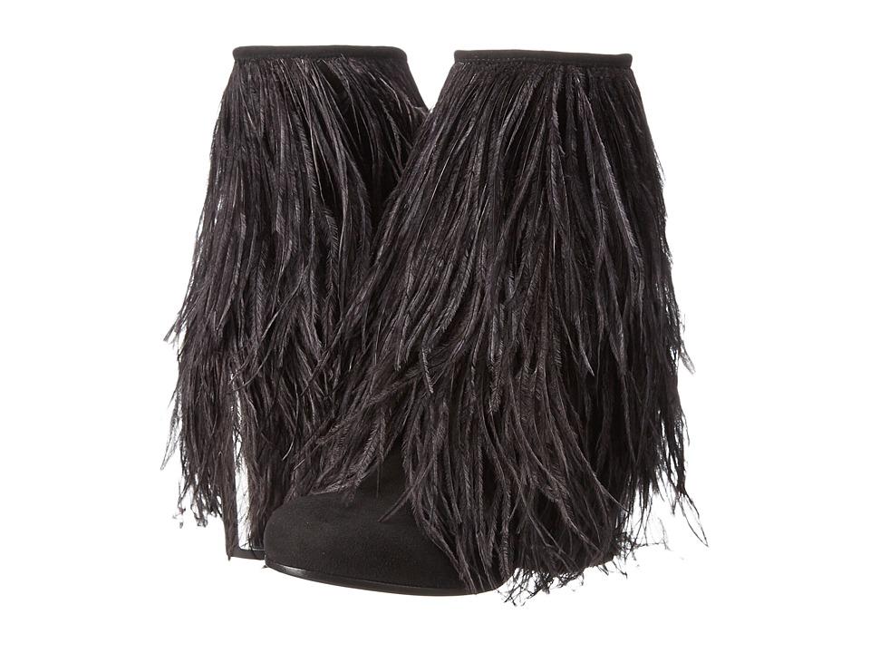 McQ Geffrye Zip (Black Suede Ostrich) Women