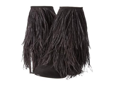 McQ - Geffrye Zip (Black Suede Ostrich) Women