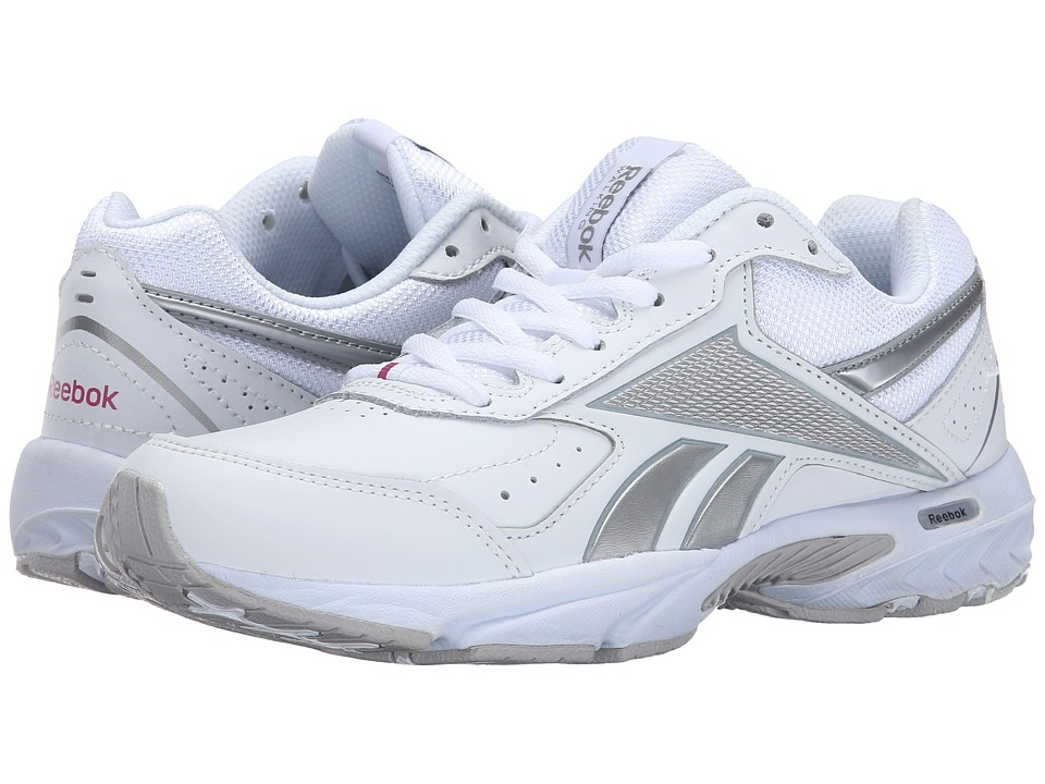 Reebok - Daily Cushion 3.0 RS (White/Pure Silver/Flat Grey/Pink) Women