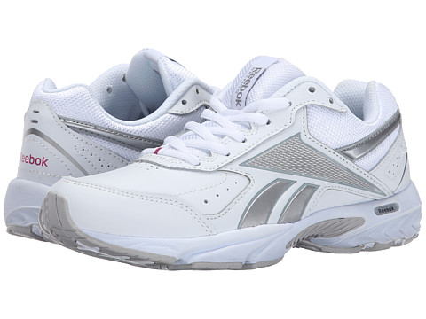 Reebok - Daily Cushion 3.0 RS (White/Pure Silver/Flat Grey/Pink) Women's Walking Shoes