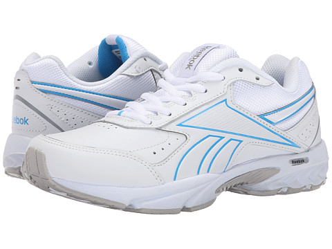 Reebok - Daily Cushion 3.0 RS (White/California Blue) Women's Walking Shoes