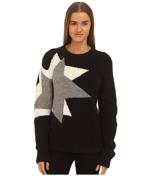 Neil Barrett - Pop Art Fluffy Jumper (Black/Off White) Women's Clothing