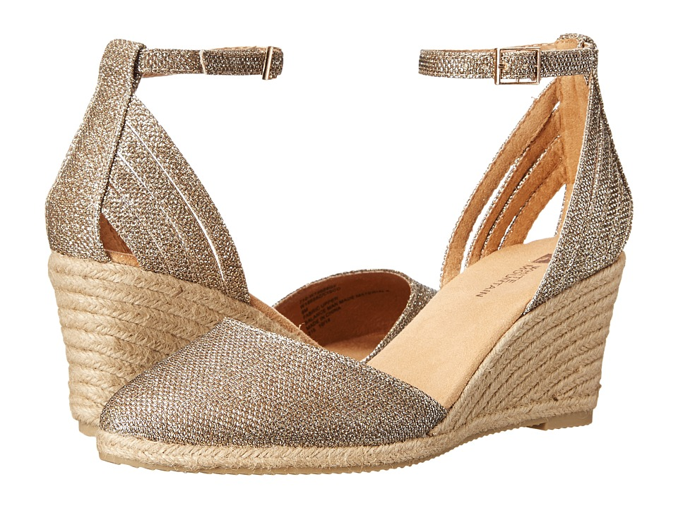 White Mountain - Cisco (Gold Glitter) Women's Shoes