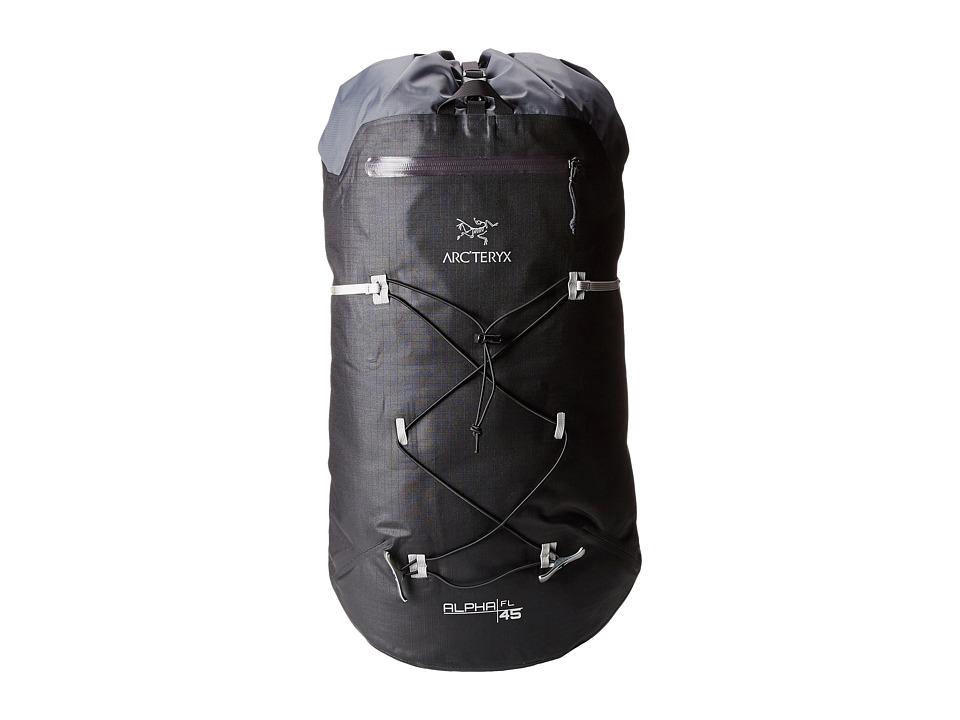 Arc'teryx - Alpha FL 45 Backpack (Black) Backpack Bags