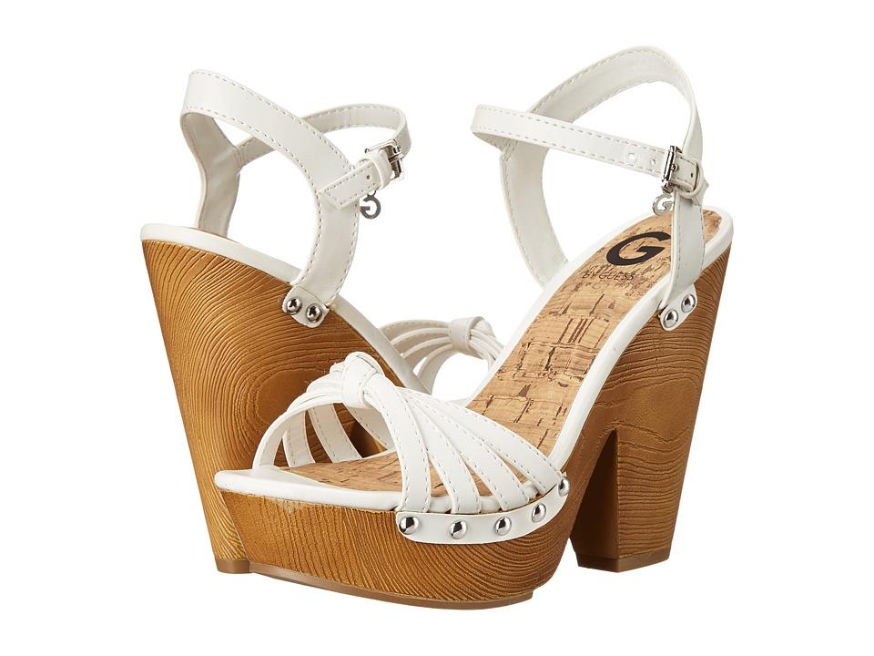 G by GUESS - Satonal (White Burnished Calf PU 1) High Heels