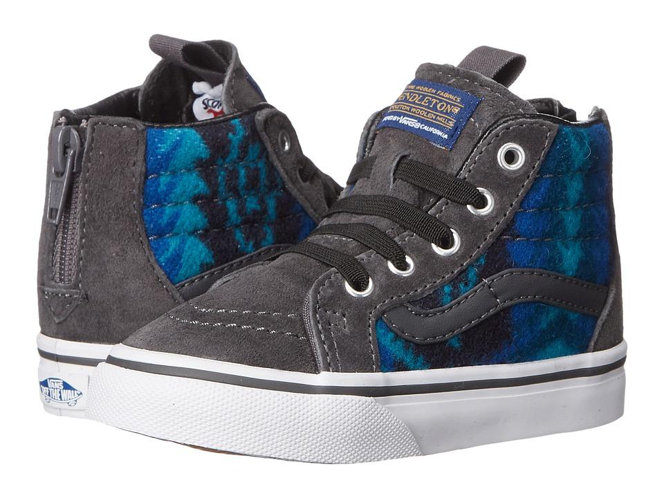 Vans Kids - SK8-Hi Zip Pendleton (Toddler) (Tribal/Asphalt) Kids Shoes
