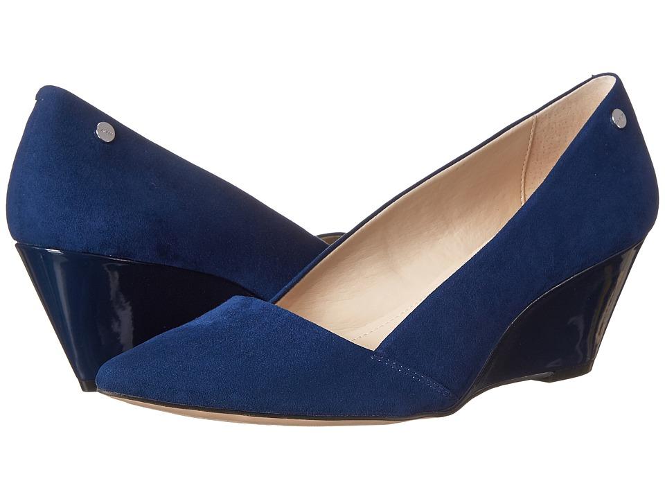 Calvin Klein - Bala (Navy Microsuede) Women's Shoes