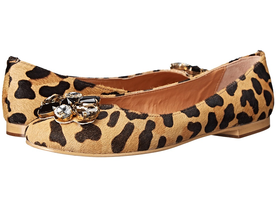 Dune London - Hubble (Leopard Pony) Women's Flat Shoes