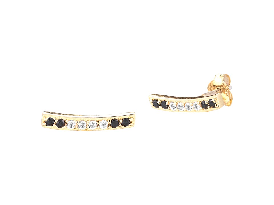 Elizabeth and James - Vago Bar Stud Earrings (Yellow Gold) Earring