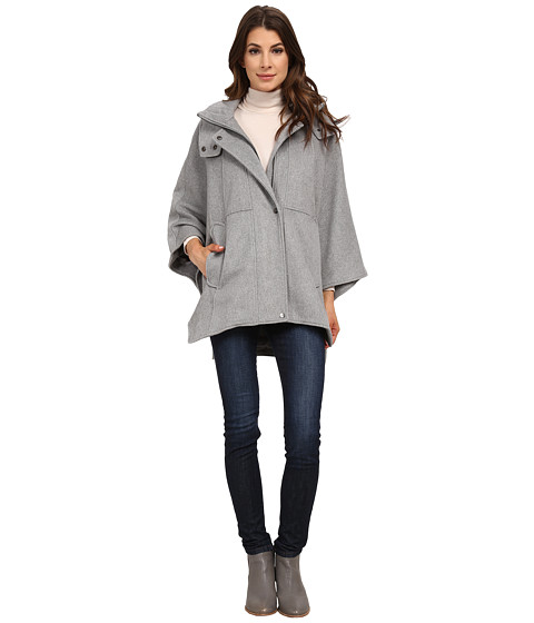 DKNY - Hooded Cape 30981-Y5 (Pale Grey) Women's Coat