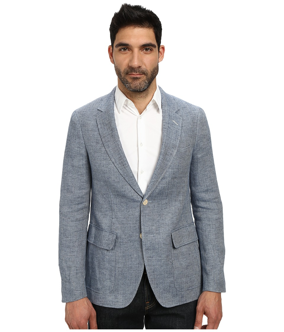 Gant Rugger - R. Herringbone (Vintage Blue) Men's Jacket