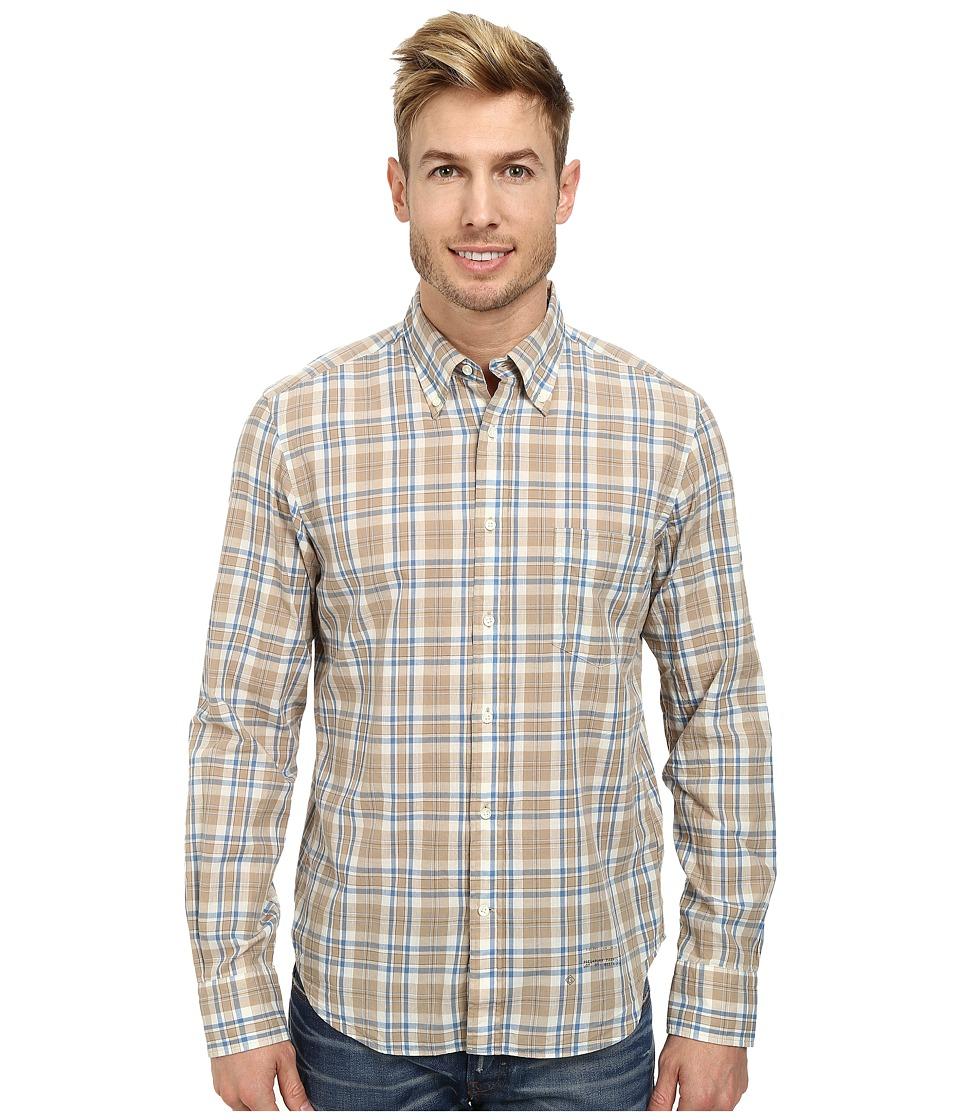Gant Rugger - R. Handloom Madras E-Z Obd (Beige) Men's Clothing