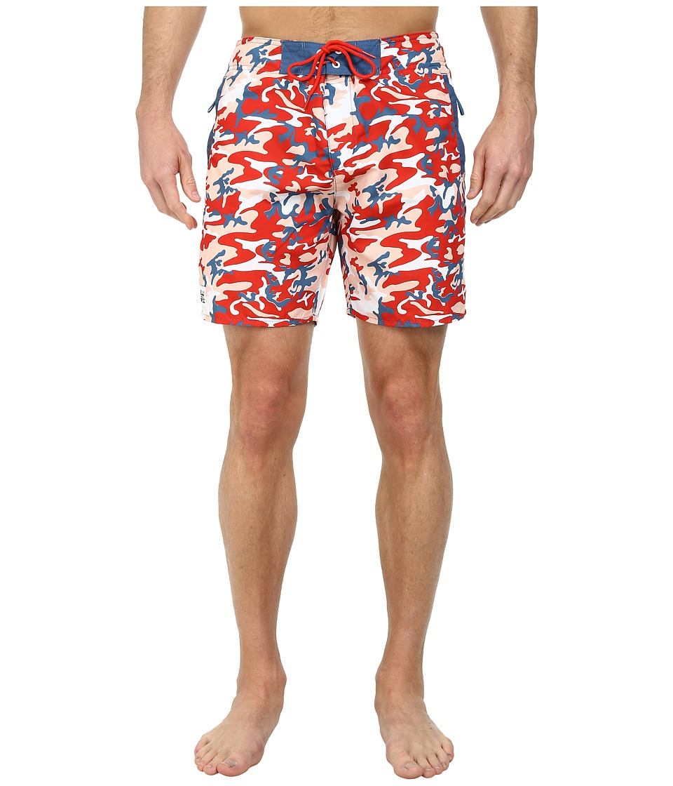 WeSC - Warhol x WeSC Boardshorts (Warhol Camo 2) Men's Swimwear