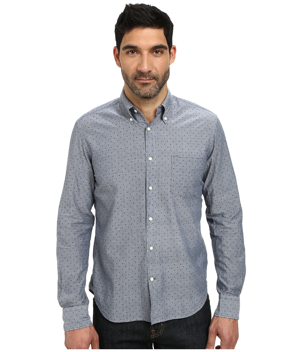 Gant Rugger - R. Dotty Madras E-Z Obd (Indigo Blue) Men's Clothing