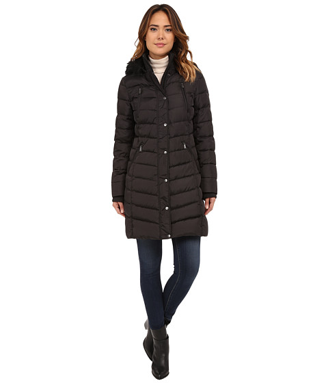 DKNY - 3/4 Down w/ Power Stretch 31927-Y5 (Black) Women's Coat