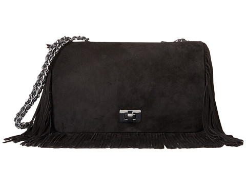 Stuart Weitzman - Swish (Black Suede) Handbags